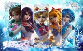 Картинка аниме, арт, Sailor Moon, Сейлор Мун, sunmomo 珊