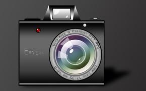 Картинка рисунок, вектор, камера, художник, фотоапарат, картинка, фотик, заставка, иллюстрация, Camera, фотокамера, видеокамера, художество, обои 1920x1080, …