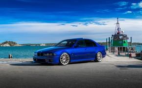 Картинка BMW, Blue, E39