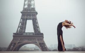 Картинка девушка, Париж, танец, Eva