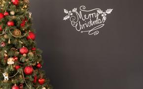 Картинка украшения, праздник, новый год, рождество, ель