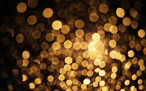 Обои свет, lights, огни, фон, golden, золотой, background, боке, bokeh