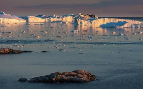 Картинка лед, зима, море, небо, вода, свет, природа, камни, лёд, ледник, айсберг, льды, льдины, север, глыбы, …