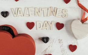 Картинка сердечко, Праздник, конфеты, буквы, день влюбленных, Коробка