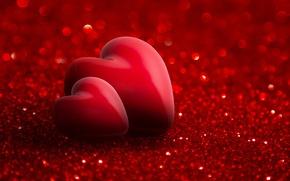 Обои romantic, hearts, red, valentine`s day, love