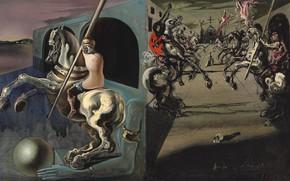 Обои Salvador Dali, картина, Сальвадор Дали, Парад Рыцарей, сюрреализм