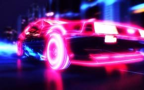 Картинка Car, Neon, synthwave
