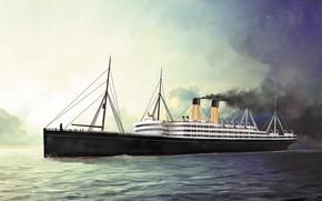Картинка волны, корабль, cedric, Transatlantic Ships