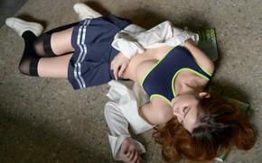 Картинка девушка, тело, лежит