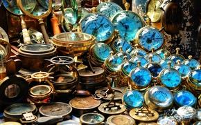 Обои стекло, макро, компас, коллекция, компасы