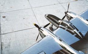 Картинка плиты, самолёт, вид с верху, P-38 Lightning