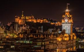 Картинка Шотландия, Scotland, Эдинбург, Edinburgh, Edinburgh Castle, Balmoral Hotel