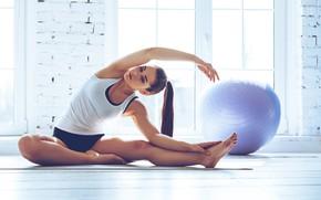 Обои pose, yoga, elongation