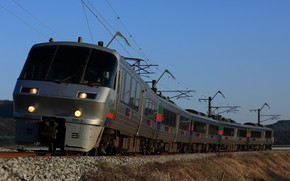 Картинка рельсы, поезд, вагоны