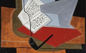 Картинка трубка, Juan Gris, 1926-1927, Чаша и книга