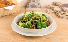 Картинка овощи, салат, брокколи
