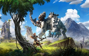 Обои Art, Aloy, Sony, TheVideoGamegallery.com, Horizon: Zero Dawn, PS4