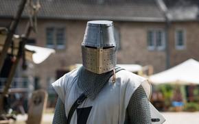 Картинка доспехи, шлем, рыцарь, метал, кольчуга