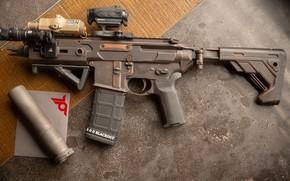 Обои АР-15, assault Rifle, weapon, ar-15, custom, assault rifle, штурмовая винтовка, винтовка, оружие