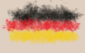 Картинка абстракция, Германия, облако, флаг