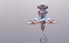 Картинка поза, арт, обезьянка, fabio wasques, Frostfire Monkey WIP