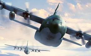 Картинка небо, полёт, самолёт, Military aircrafts