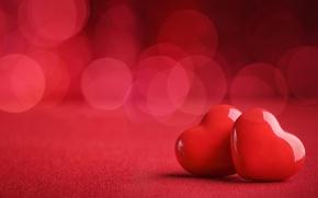 Обои red, love, heart, background, romantic, bokeh, valentine's day