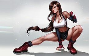 Картинка Hot, Final Fantasy, Final Fantasy 7, Tifa, Brunette, pinup, Square, Panty, pin up, perfect, Game, …
