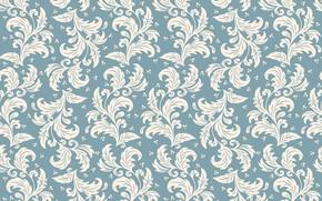 Обои seamless, background, орнамент, flower, текстура, узор, vector, фон, pattern
