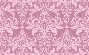 Картинка pattern, vintage, pink, classic, текстура, wallpaper, винтаж, seamless