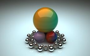 Картинка шарики, фон, шары