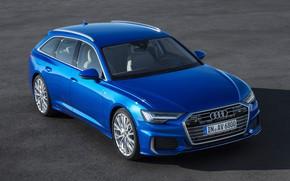 Картинка авто, Асфальт, Audi A6 55 TFSI quattro S line Avant.