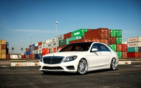 Картинка Mercedes, wheels, S550, COR, lowered