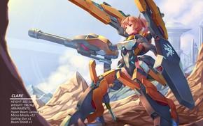 Картинка девушка, оружие, робот, bigrbear