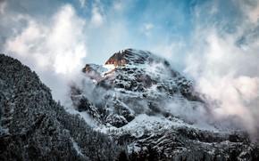 Картинка облака, гора, Горы