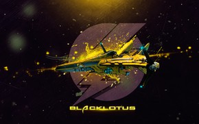 Картинка thunder, летающий аппарат, blacklotus