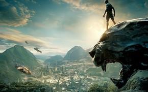 Картинка город, фильмы, корабль, Action, Black, Warrior, The, комикс, 2018, король, Prince, Martin Freeman, Panther, EXCLUSIVE, …