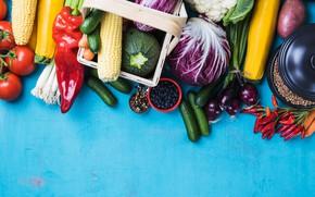 Картинка перец, овощи, капуста, ассорти, бакложан