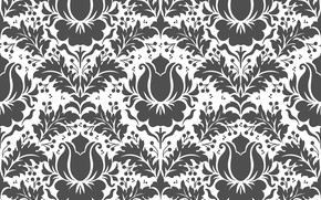 Обои seamless, background, flower, texture, текстура, vector, design, вектор, цветы, pattern