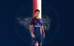 Картинка wallpaper, sport, football, player, Neymar, Paris Saint-Germain