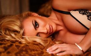Картинка грудь, взгляд, лицо, рука, блондинка, Marko Smiljanic