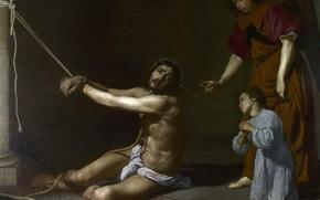 Картинка картина, религия, мифология, Диего Веласкес, Христос Страдает за Христианскую Душу