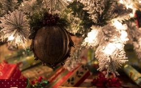Картинка настроение, праздник, игрушка, елка, подарки