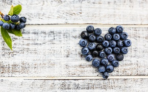 Картинка ягоды, черника, love, fresh, heart, wood, romantic, blueberry