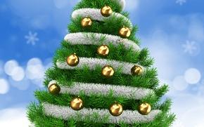 Обои Шарики, Рождество, Новый Год, Елка