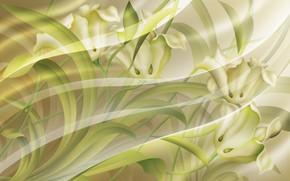 Обои нежные цвета, прозрачный шелк, текстура, фон, абстракция, цветочный узор, Ткань