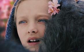 Картинка cinema, girl, monkey, flower, Nova, movie, film, kid, hana, War For The Planet Of The …