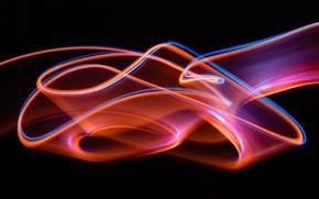 Обои яркость, полосы, узор, абстракция, темный фон