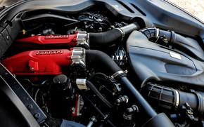 Картинка двигатель, Ferrari, 2018, Portofino, V8, 600 л.с., 3.9 л.