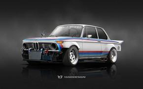 Обои Yasid Oozeear, Yasid Design, Speedhunters, 1974, Tribute, BMW 2002 1974, Рендеринг, Авто, Арт, Рисунок, Машина, ...